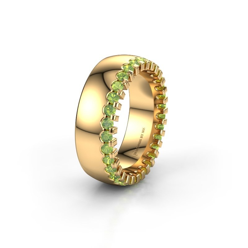 Wedding ring WH6120L27C 375 gold peridot ±0.28x0.09in