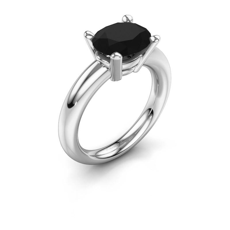 Ring Janiece 925 Silber Schwarz Diamant 3.24 crt
