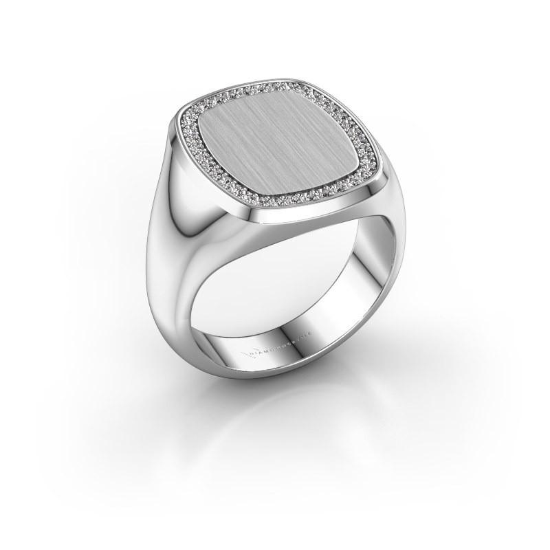 Heren ring Floris Cushion 4 925 zilver diamant 0.278 crt