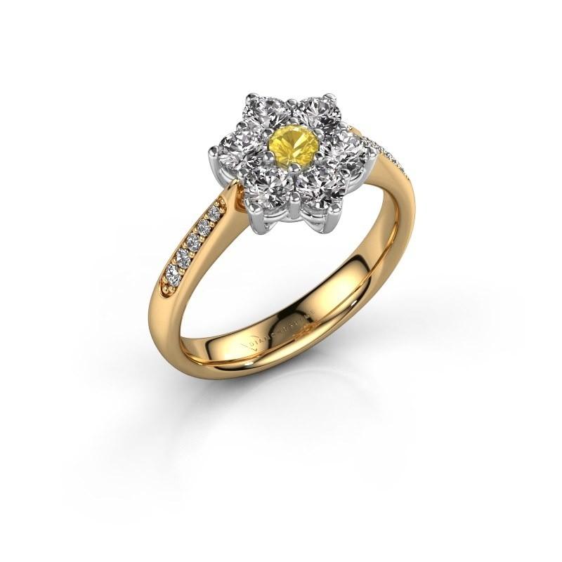 Verlobungsring Chantal 2 585 Gold Gelb Saphir 3 mm