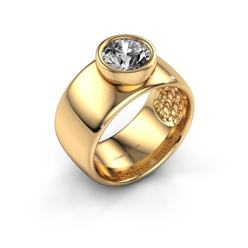 Ring Klarinda 585 gold zirconia 7 mm
