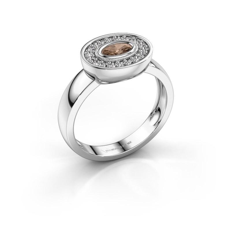 Bague Azra 925 argent diamant brun 0.41 crt