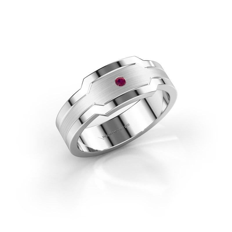 Men's ring Guido 950 platinum rhodolite 2 mm