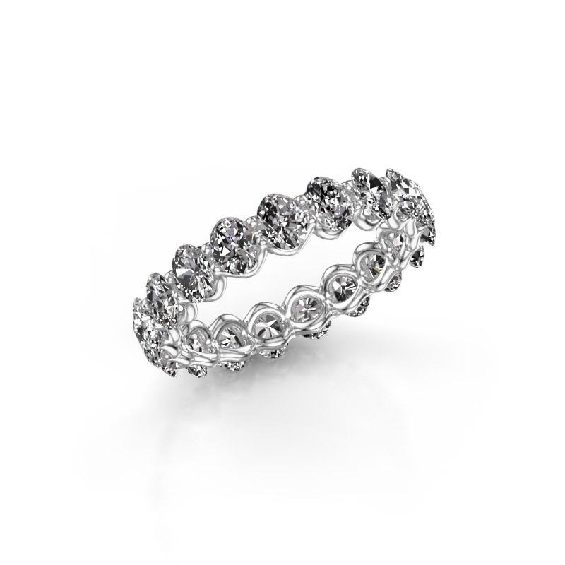 Ring Kirsten OVL 4x3 585 Weißgold Diamant 2.85 crt