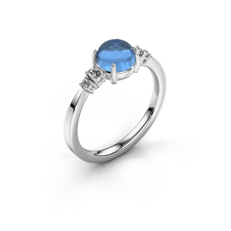 Ring Regine 925 silver blue topaz 6 mm