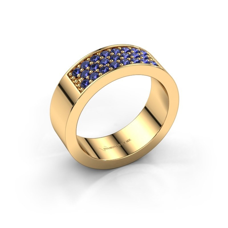 Ring Lindsey 5 375 gold sapphire 1.7 mm