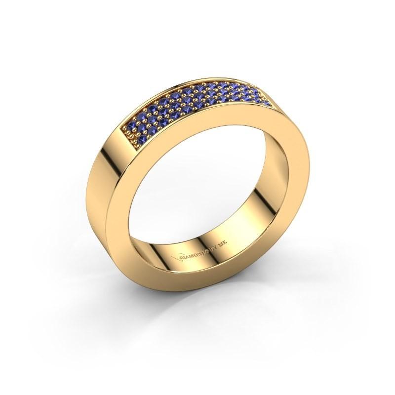 Ring Lindsey 1 375 goud saffier 1.1 mm
