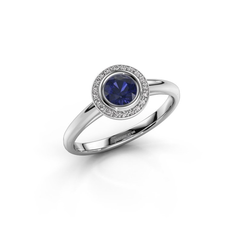 Promise ring Noud 1 RND 925 silver sapphire 4.7 mm