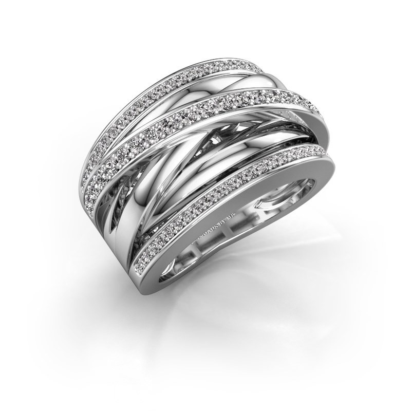 Ring Clair 2 950 Platin Zirkonia 1.5 mm