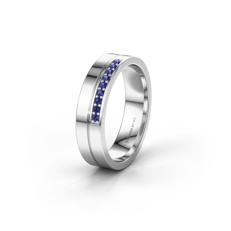 Wedding ring WH0213L15AP 925 silver sapphire ±0.20x0.07 in
