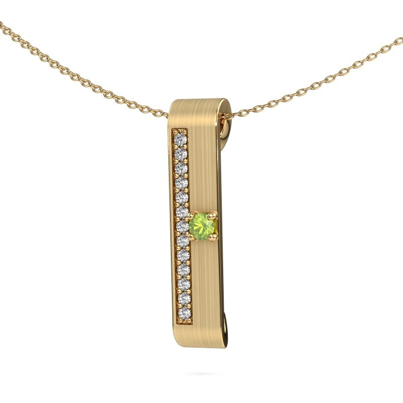 Halsketting Vicki 375 goud peridoot 3 mm