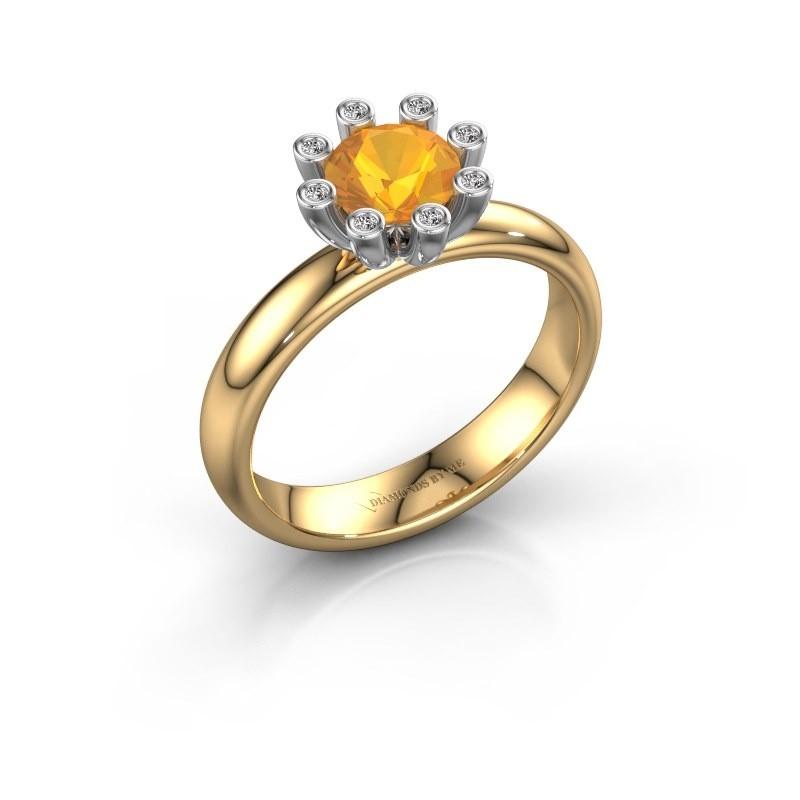 Stapelring Carola 3 585 goud citrien 6 mm