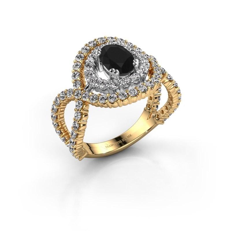 Ring Chau 585 goud zwarte diamant 2.13 crt