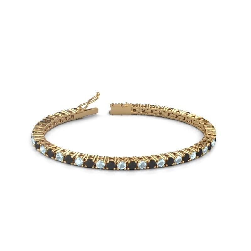 Tennisarmband Jenny 375 goud zwarte diamant 5.184 crt