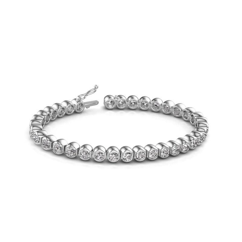 Tennis bracelet Bianca 585 white gold zirconia 4 mm