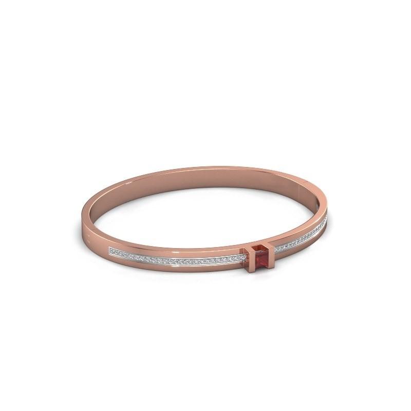 Armband Desire 585 rosé goud robijn 4 mm