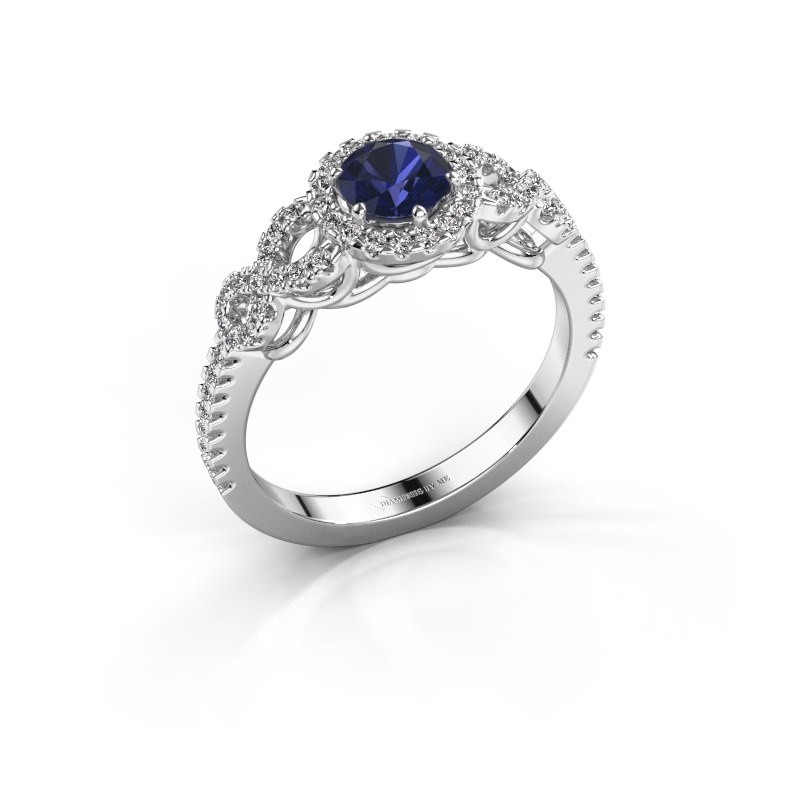 Engagement ring Sasja 585 white gold sapphire 5 mm