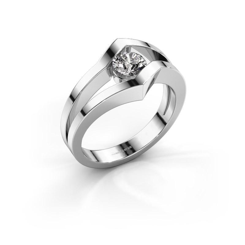 Ring Elize 585 white gold diamond 0.30 crt