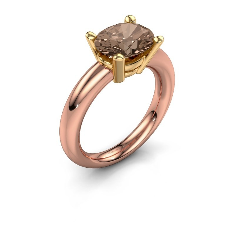 Bague Janiece 585 or rose diamant brun 2.70 crt