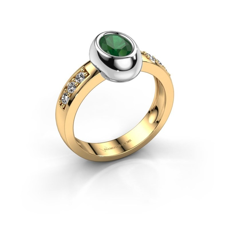 Ring Charlotte Oval 585 gold emerald 7x5 mm