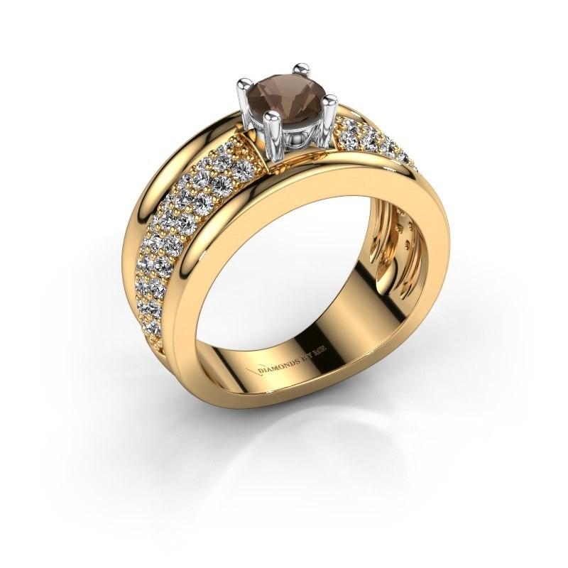 Ring Alicia 585 Gold Rauchquarz 5 mm