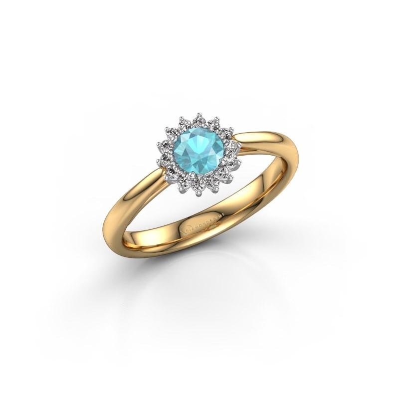 Engagement ring Tilly RND 1 585 gold blue topaz 4.2 mm