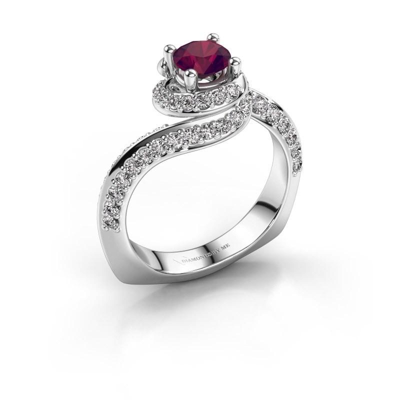 Engagement ring Sienna 950 platinum rhodolite 5 mm