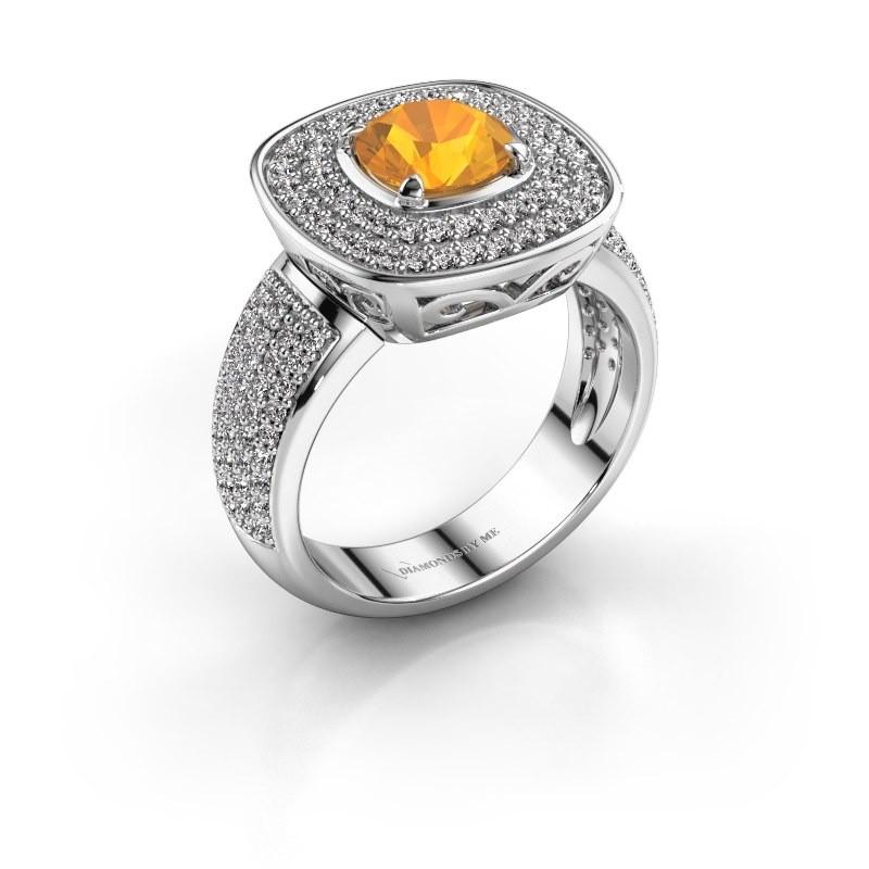 Ring Eliana 950 platina citrien 6 mm