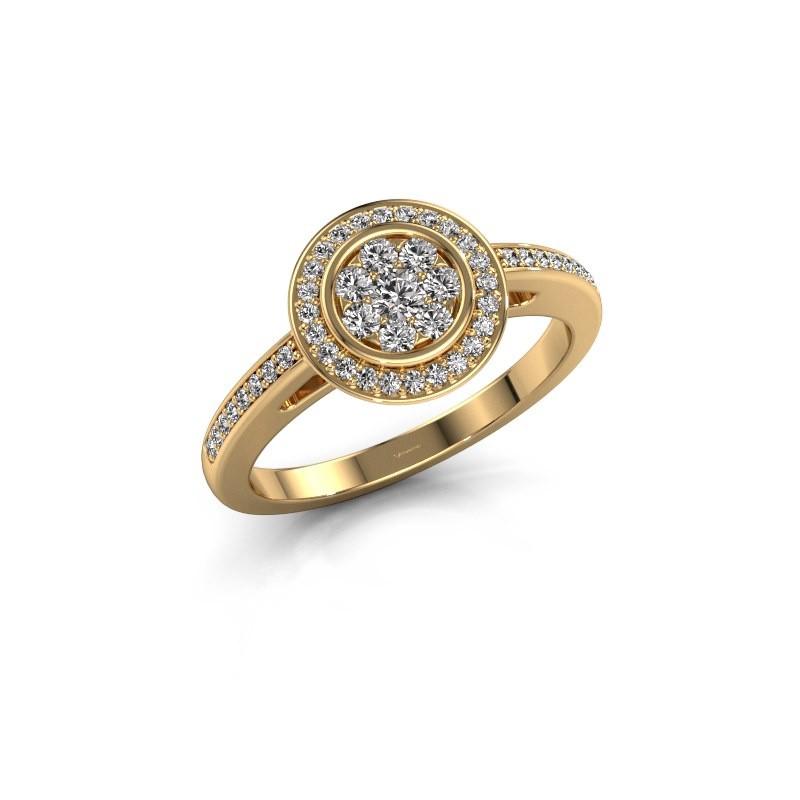 Engagement ring Aida 375 gold diamond 0.36 crt