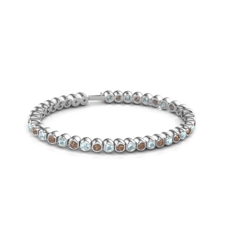 Tennisarmband Mellisa 585 witgoud bruine diamant 7.200 crt