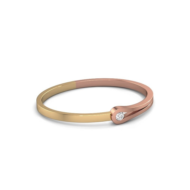 Bangle Kiki 585 rose gold diamond 0.40 crt