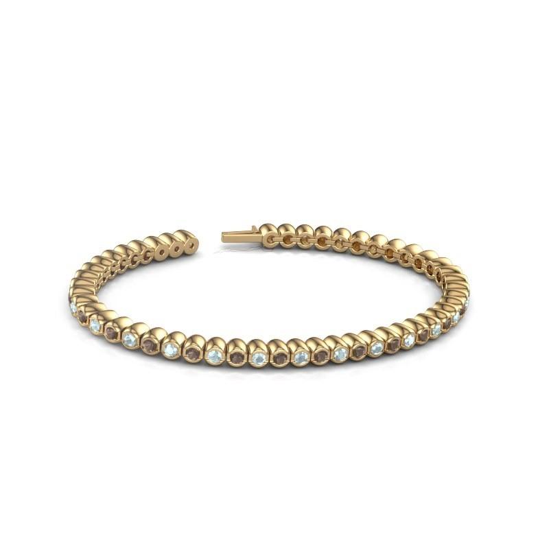 Tennisarmband Patrica 375 goud rookkwarts 2.4 mm