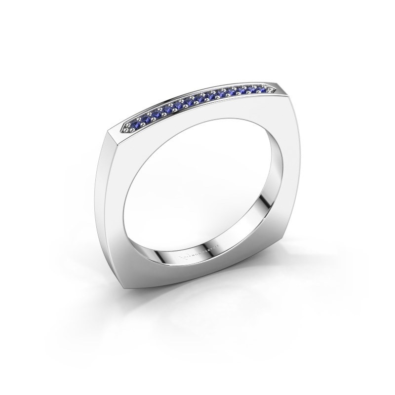 Stackable ring Ashley 950 platinum sapphire 1 mm