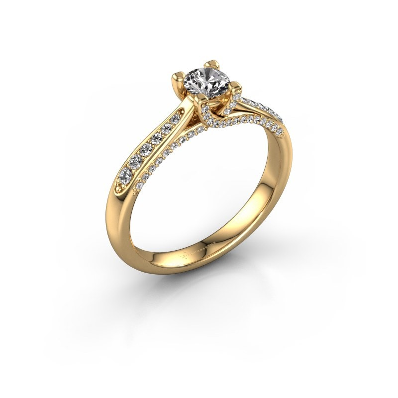 Verlovingsring Mia 3 375 goud diamant 0.548 crt
