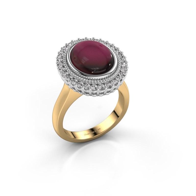 Ring Mila 585 gold garnet 12x10 mm