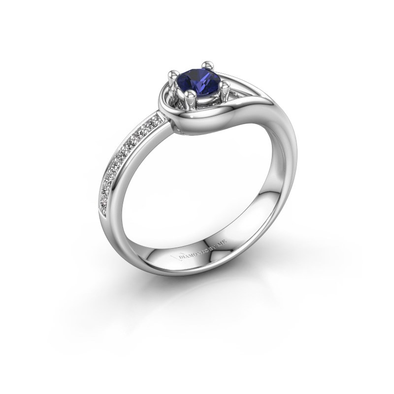 Ring Zara 925 zilver saffier 4 mm
