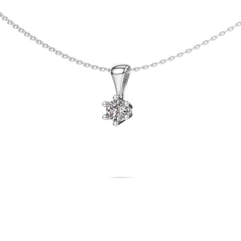 Ketting Fay 585 witgoud lab-grown diamant 0.25 crt