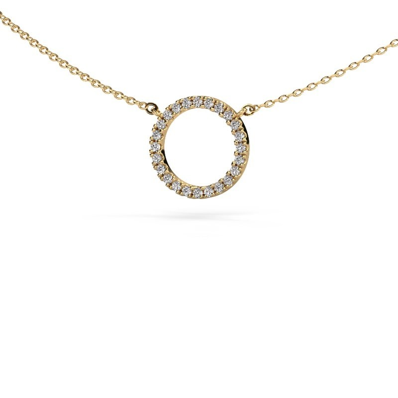 Hanger Circle 375 goud zirkonia 1.2 mm