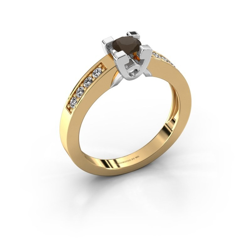 Verlovingsring Nina 2 585 goud rookkwarts 4.2 mm