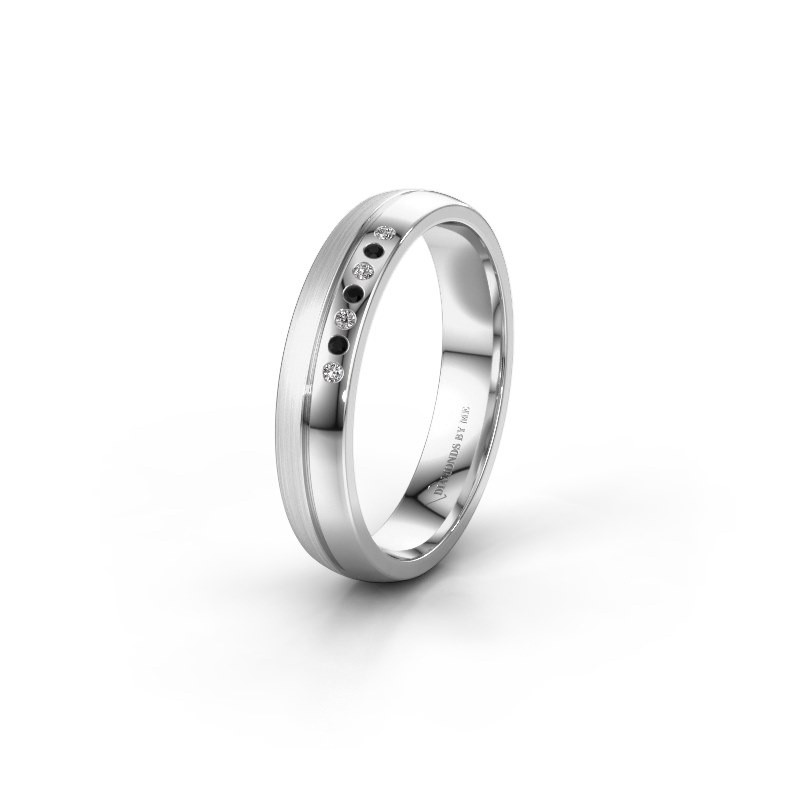 Wedding ring WH0216L24APM 925 silver black diamond ±0.16x0.07 in
