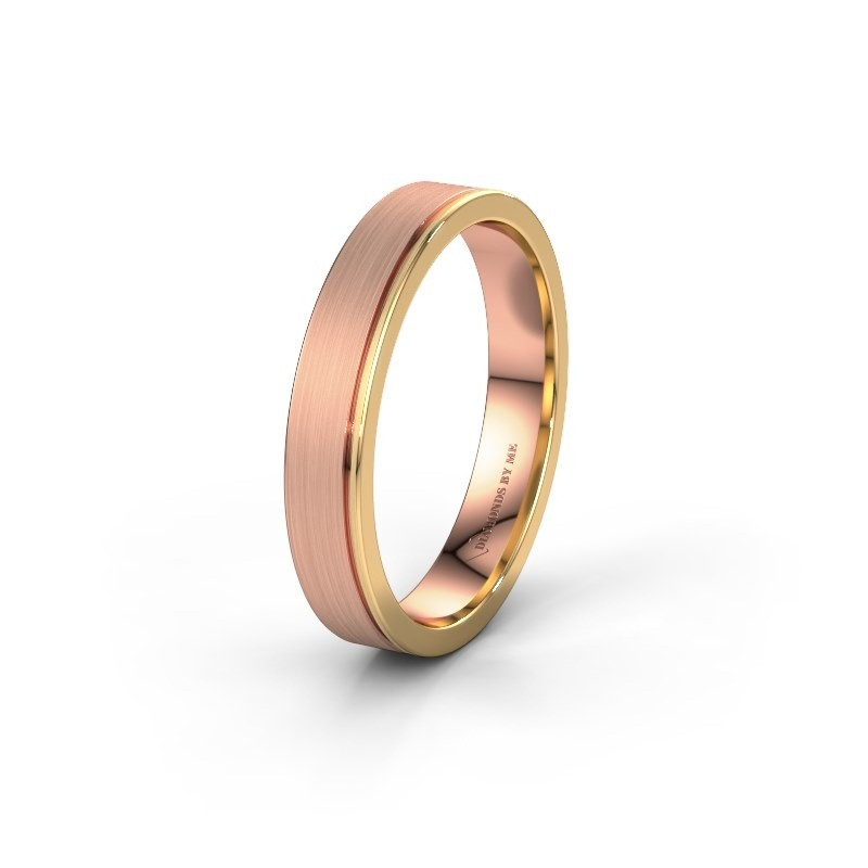 Wedding ring WH0500M14AM 585 rose gold ±4x1.7 mm
