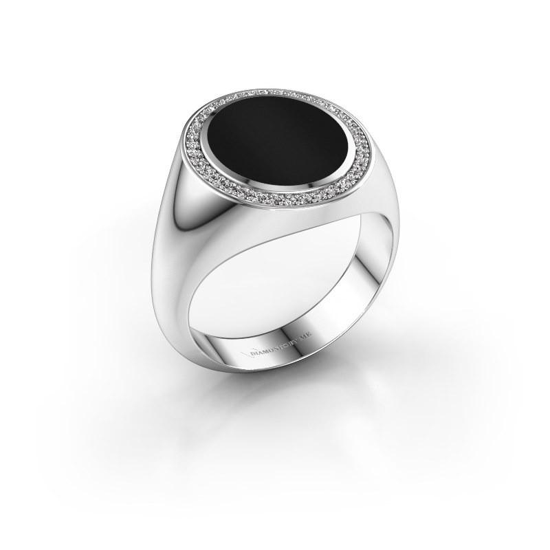 Zegel ring Adam 3 375 witgoud onyx 13x11 mm