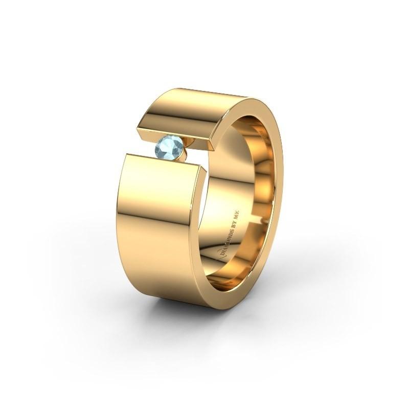 Ehering WH0146L18BP 375 Gold Aquamarin ±8x2 mm