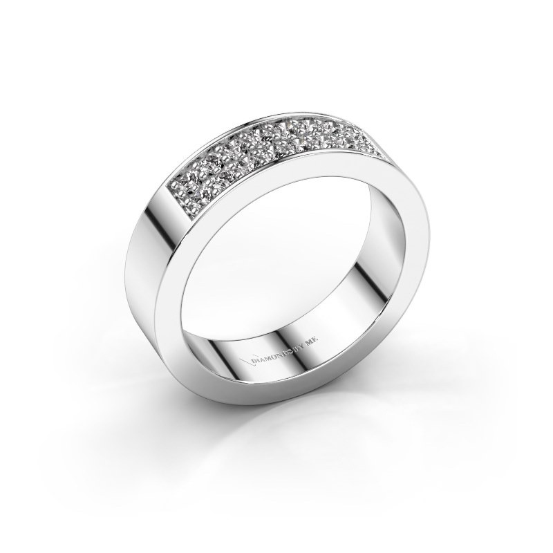 Stackable ring Catharina 5 585 white gold zirconia 1.7 mm