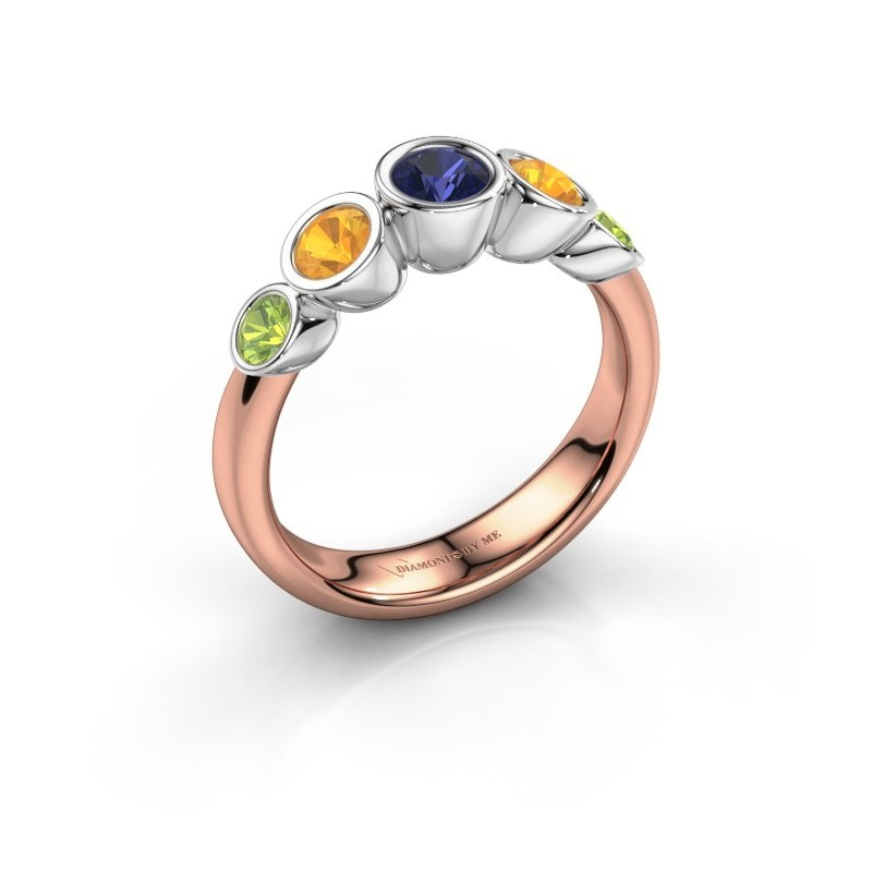 Ring Lizz 585 rose gold sapphire 4 mm