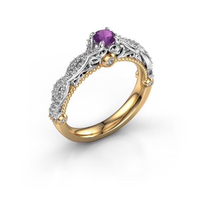 Verlovingsring Chantelle 585 goud amethist 4 mm