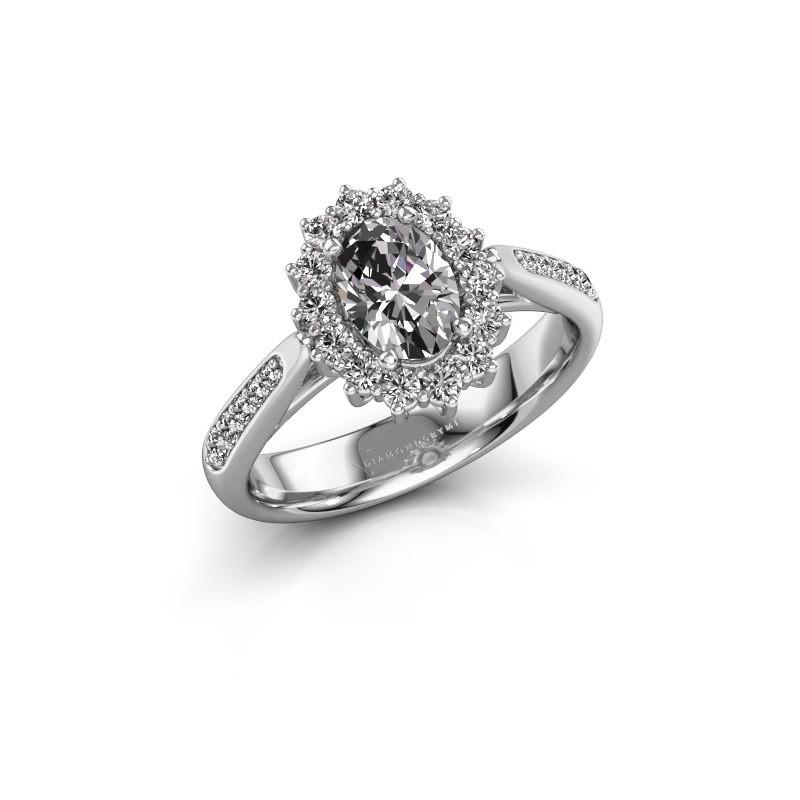 Engagement ring Margien 2 925 silver lab grown diamond 0.80 crt
