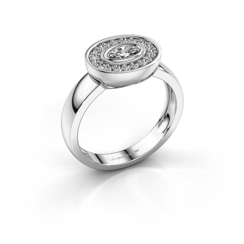 Ring Azra 585 Weißgold Zirkonia 5x3 mm