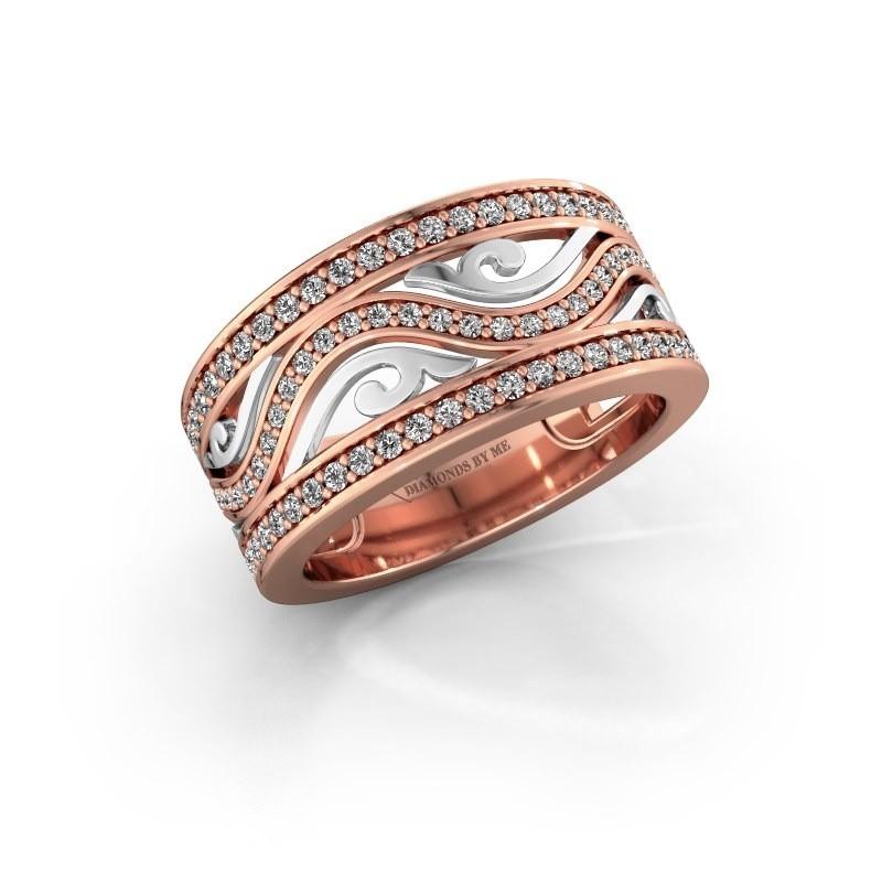 Ring Louvenia 585 rosé goud zirkonia 1.2 mm