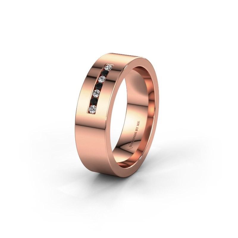 Alliance WH0108L16BP 375 or rose diamant noir ±6x2 mm
